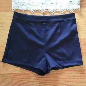 High Waisted Navy Blue Short